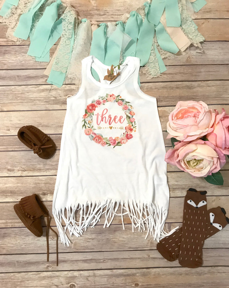 Third Birthday Dress - Bitty & Boho