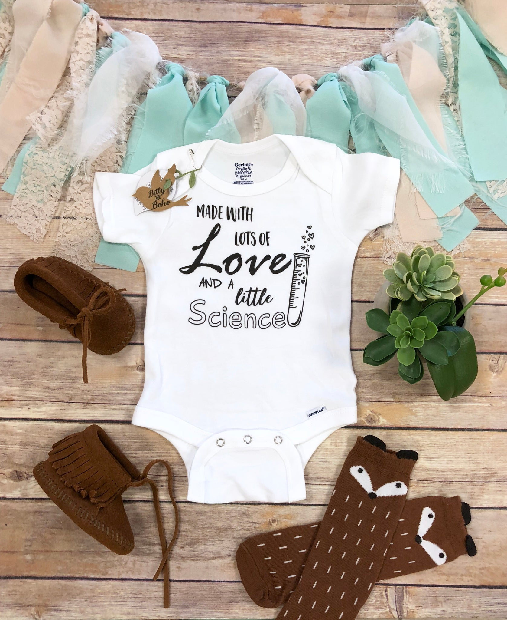 10c440e35 Made with Lots of Love and a Little Science - IVF Onesie® – Bitty & Boho