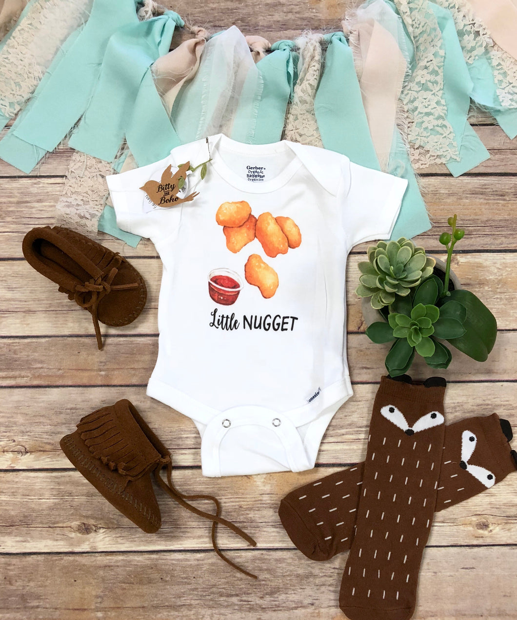 Little Nugget - Chicken Nugget Baby Onesie®