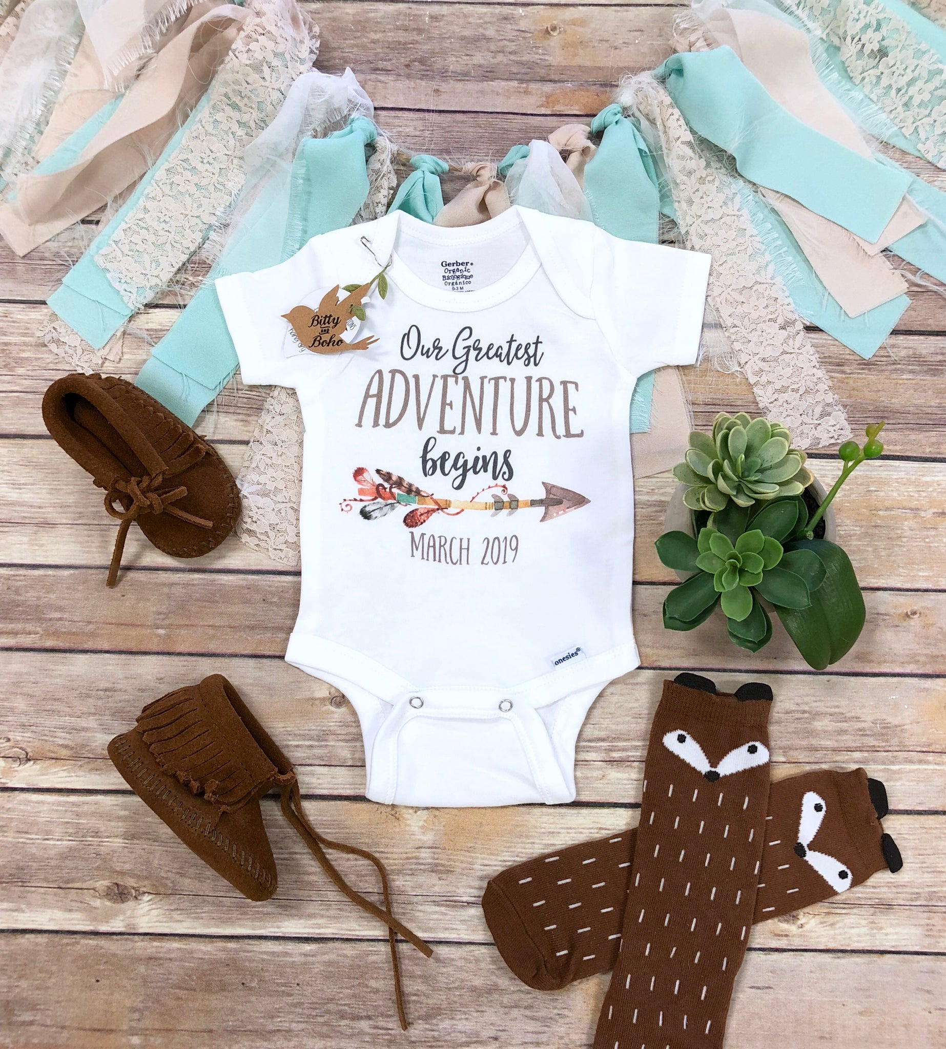 bcadcba9b ... Our Greatest Adventure Begins Pregnancy Announcement Onesie®, Pregnancy  Reveal to Parents, Adventure Onesie ...