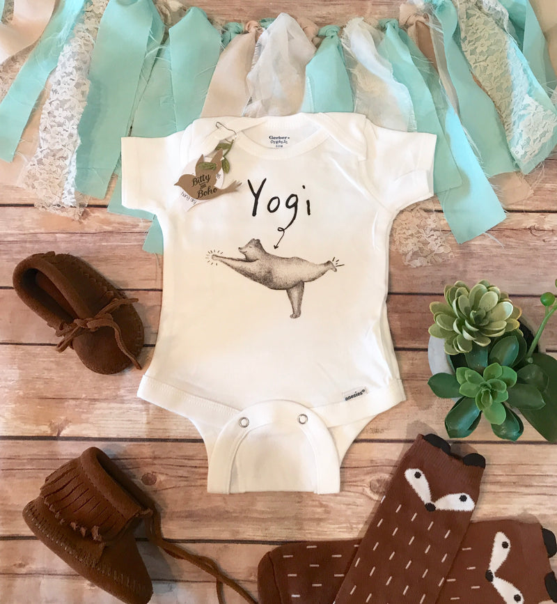 Yoga (Yogi) Bear Onesie® - Bitty & Boho