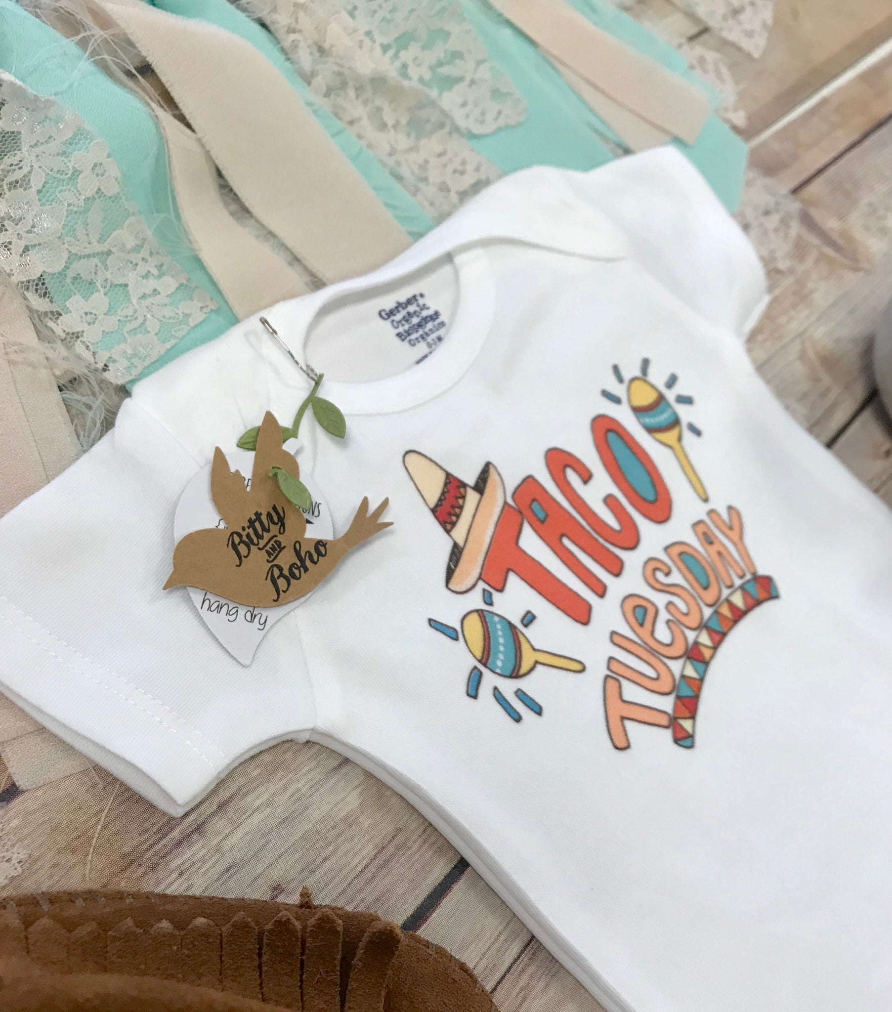 Taco Tuesday Onesie Baby Shower Gift Unisex Baby Clothes Baby