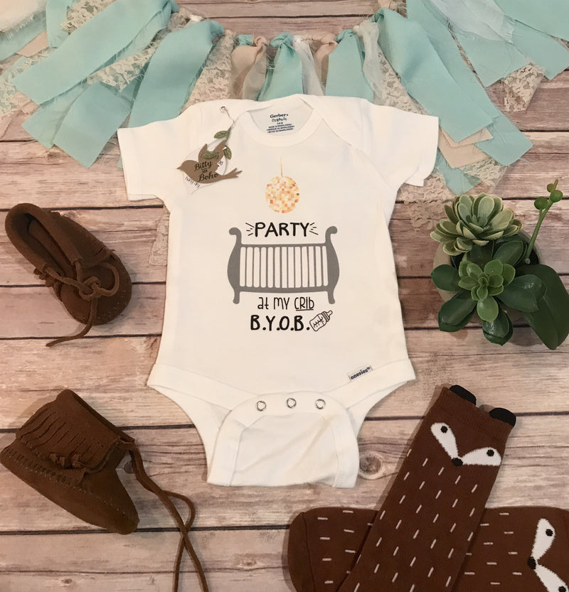 Party At My Crib Onesie® - Bitty & Boho