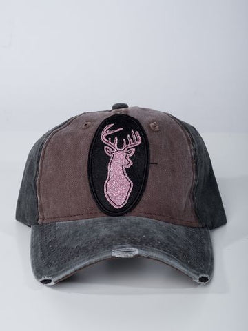 Sparkly Deer Distressed Hat