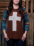 Crochet Cross Raglan Top