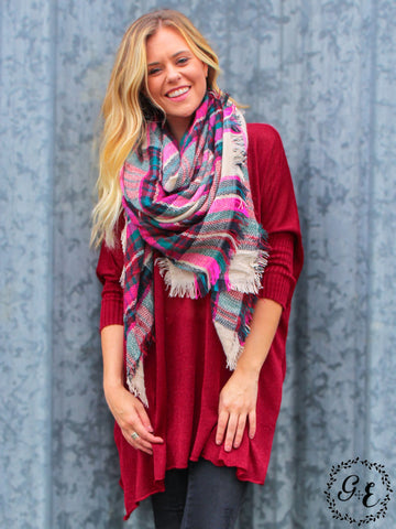Pink Bliss Blanket Scarf