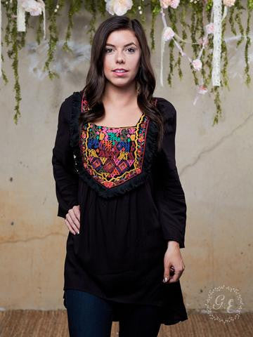 Aztec Embroidery Blouse