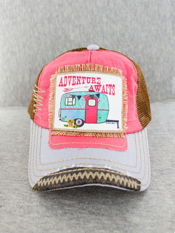 Adventure Awaits Patch Hat