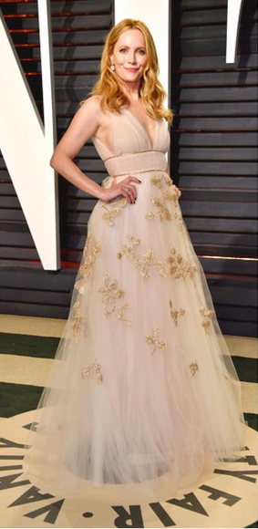 "LESLIE MANN AT THE VANITY FAIR OSCARS PARTY WEARING OUR NEW ""SOFIA"" SANDALS."