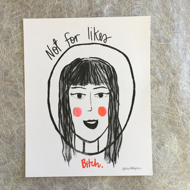 Not for Likes - Riso Print