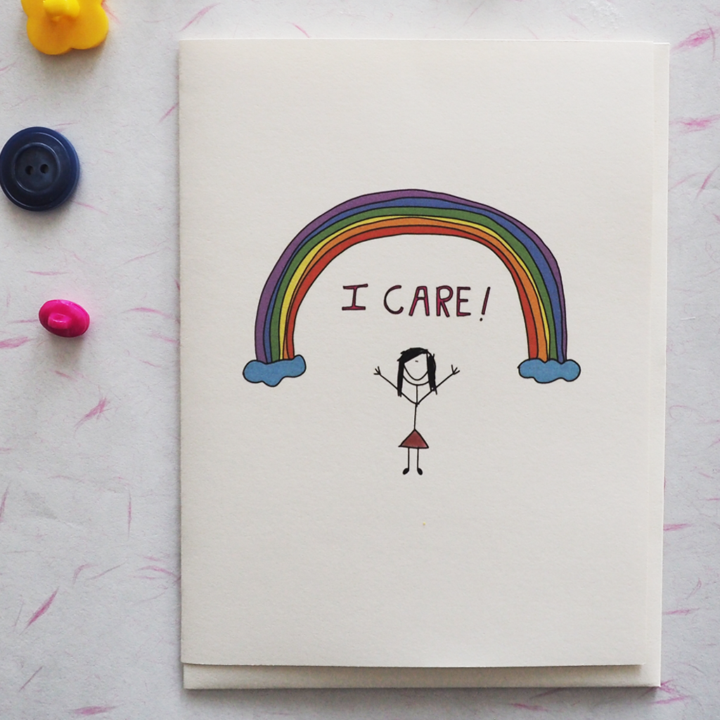 I Care - Greeting Card