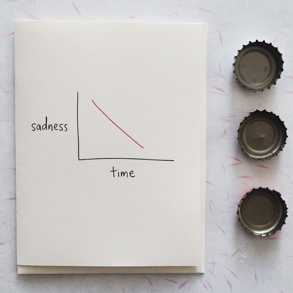 Sadness \ Time - Greeting Card