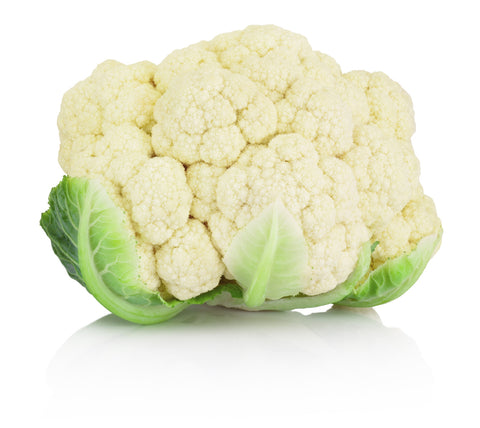 Cauliflower, White/  . . . . . . Ctn, 1 1/9 bu, 20 lbs/ Available: May-June