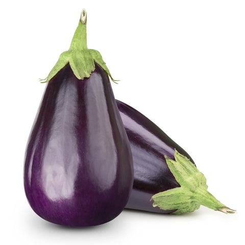 Eggplant / . . . . . Ctn, 1 1/9 bu, 25 lbs/ Available: July-Oct.