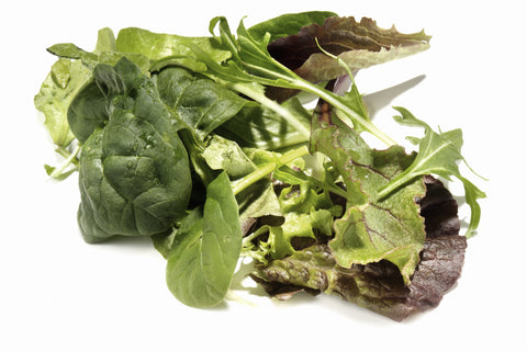 Lettuce Mix/ . . . Ctn, 1 1/9 bu, 8 lb/ Available: Apr.-June; Oct.-Dec.