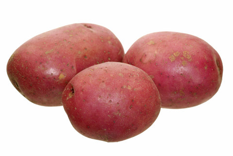 Potatoes, Round Red/  . . . . . . . Ctn, 1/2 bu, 25 lbs/ Available: June-Oct.