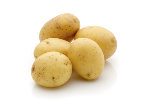 Potatoes, Round White/  Ctn, 1/2 bu, 25 lbs/ Available: June-Oct.