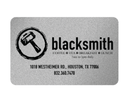 Blacksmith Gift Card