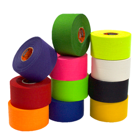 athletic tape, hockey tape, stick tape, trainers tape, black athletic tape, blue athletic tape, green athletic tape, neon green athletic tape, neon orange athletic tape, neon pink athletic tape, neon yellow athletic tape, white athletic tape, yellow athletic tape, purple athletic tape