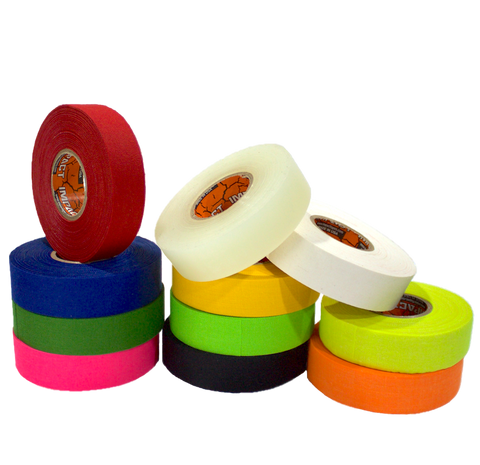 athletic tape, hockey tape, stick tape, trainers tape, black athletic tape, blue athletic tape, green athletic tape, neon green athletic tape, neon orange athletic tape, neon pink athletic tape, neon yellow athletic tape, white athletic tape, yellow athletic tape