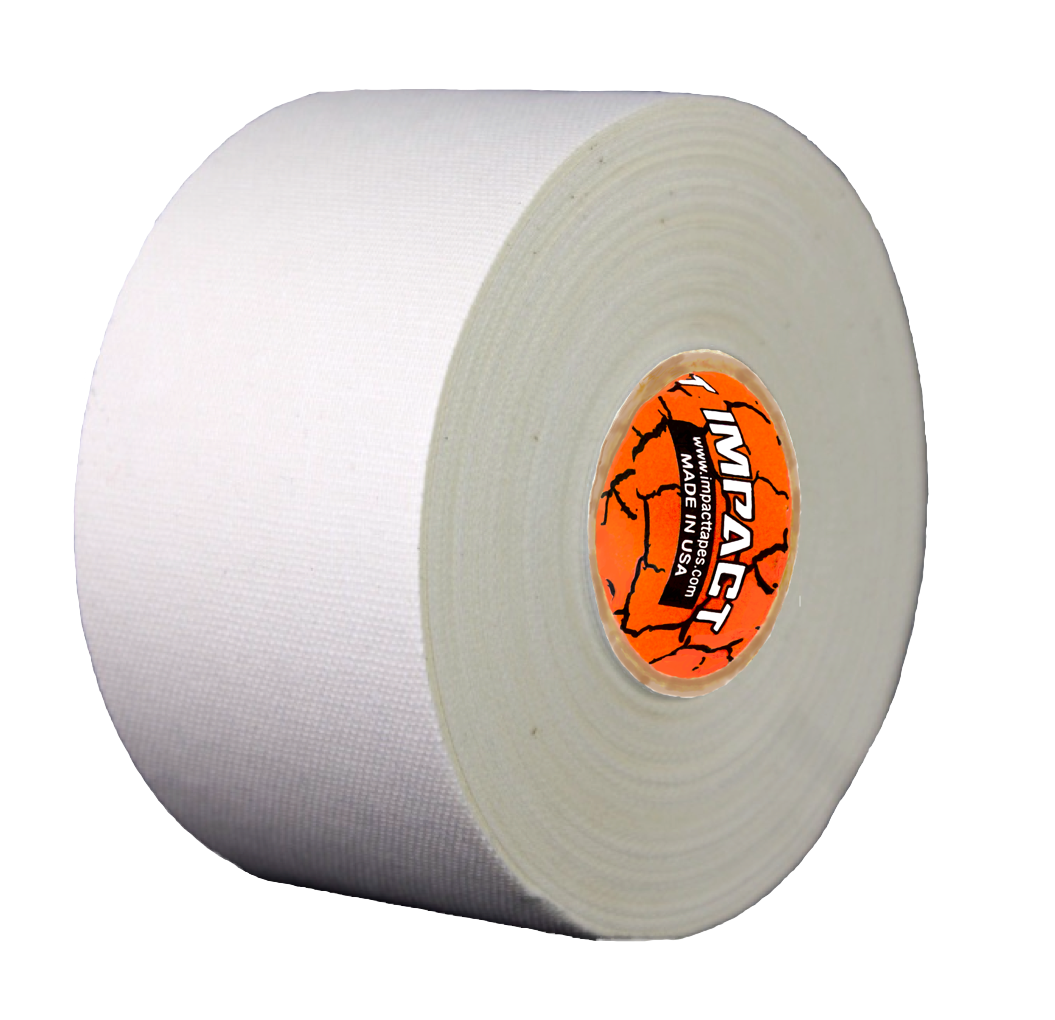 White Trainers Tape, Economy Trainers Tape that is Hypoallergenic and Latex Free, Economy Trainers is 50% Polyester and 50% Cotton, White Athletic Tape, White Stick Tape