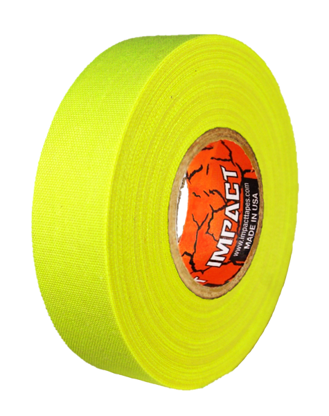 "Neon Yellow Athletic Tape, Neon Yellow Hockey Tape, 1"" x 25 yards, Neon Yellow Lacrosse Tape, Athletic Tape, Neon Yellow Tape"