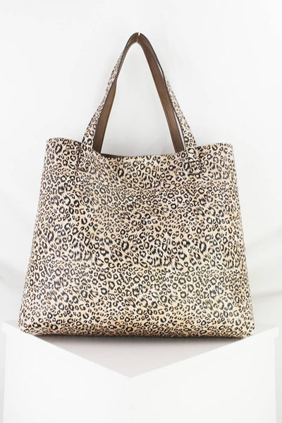 Reversible Leopard Tote