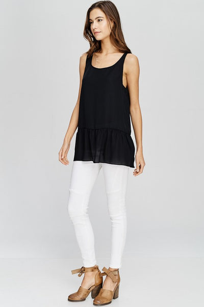 Jill Top - Black - Prairie Rose Boutique
