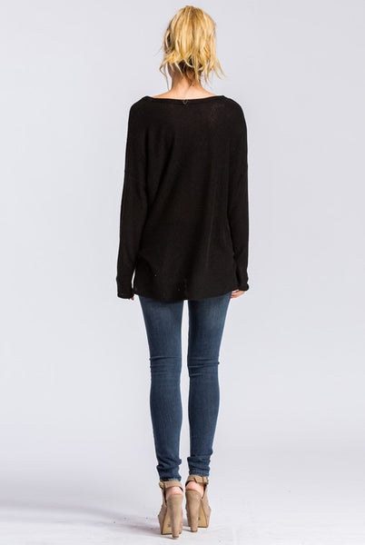 Dillion Top - Black - Prairie Rose Boutique
