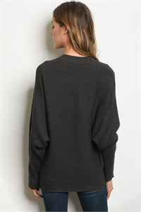 Eve Sweater - Charcoal - Prairie Rose Boutique