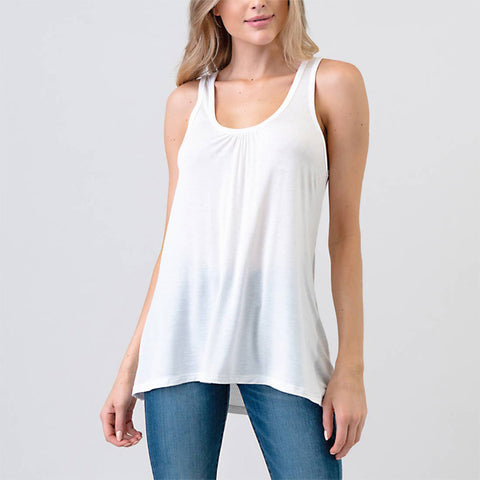 Amy Basic Tank - White