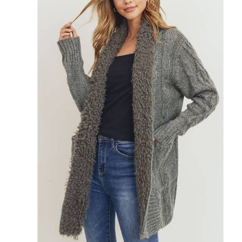 Ann Cable Knit Cardigan