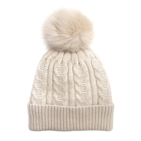 Becca Beanie - Cream - Prairie Rose Boutique