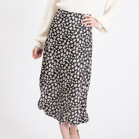 Black Leopard Skirt - Prairie Rose Boutique