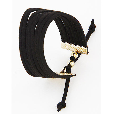Black Suede Bracelet - Prairie Rose Boutique