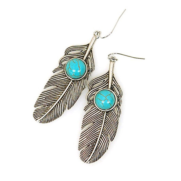 Boho Feather Earrings - Prairie Rose Boutique