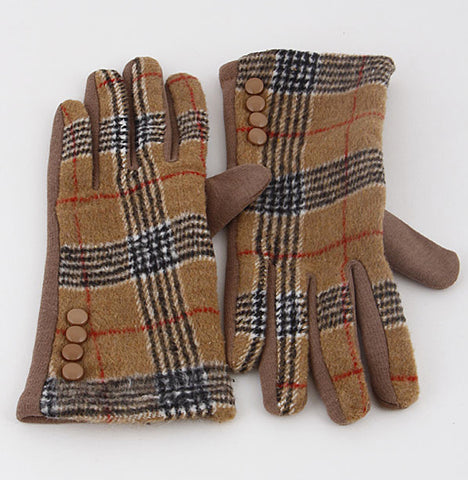 Classic Plaid Gloves - Prairie Rose Boutique