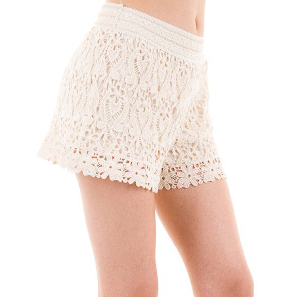 Lovely in Lace Shorts - Prairie Rose Boutique