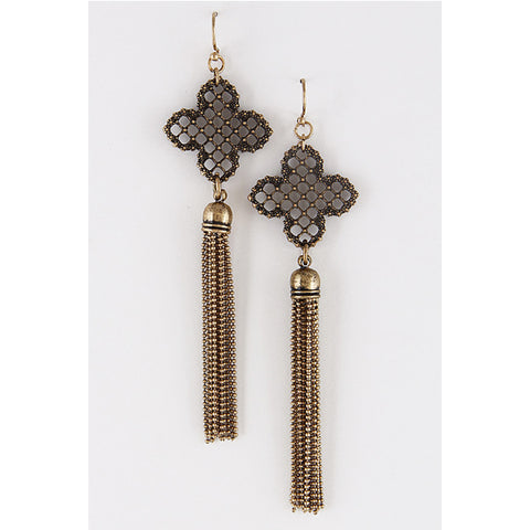 Chain Tassel Earring - Prairie Rose Boutique