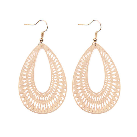 Gold Chevron Earrings - Prairie Rose Boutique