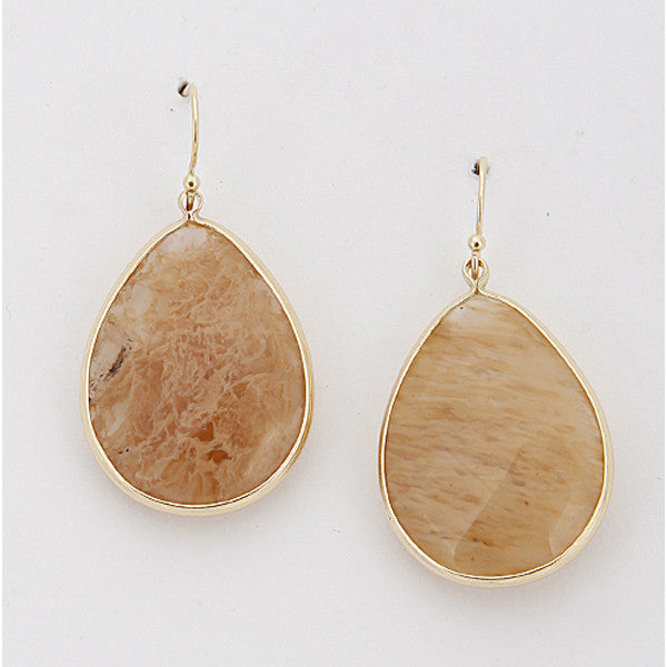 Simple Stone Earrings - Prairie Rose Boutique