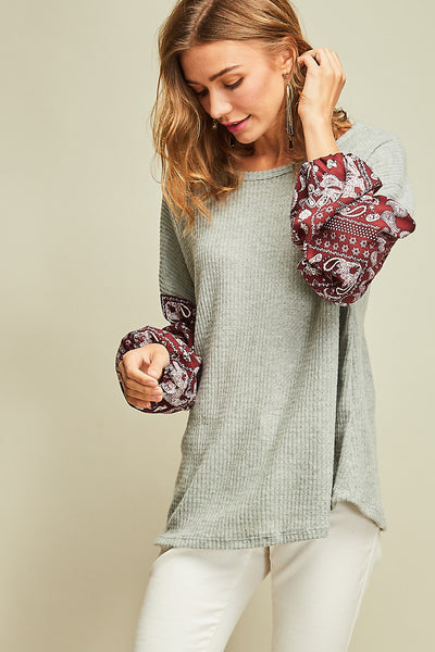 Hayden Top - Wine - Prairie Rose Boutique