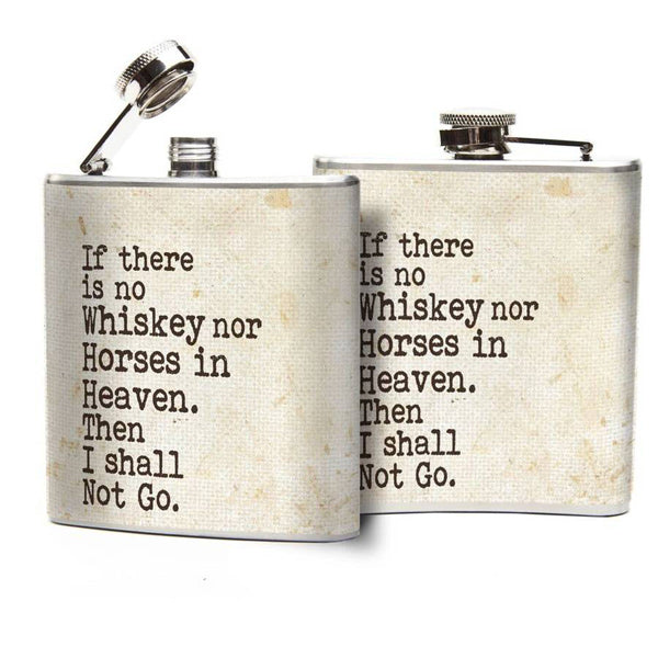 Whiskey & Horses Flask - Prairie Rose Boutique