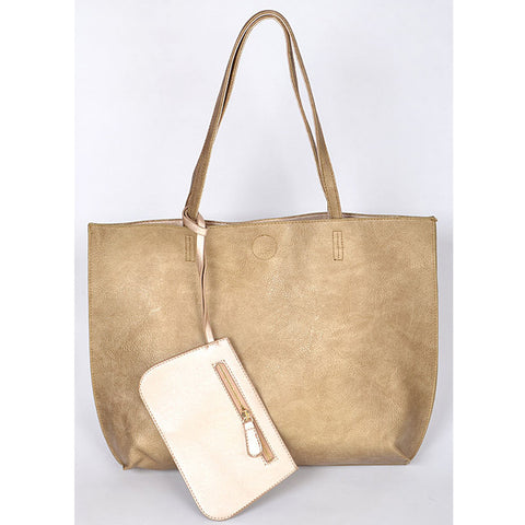 Double Duty Reversible Tote - Gold