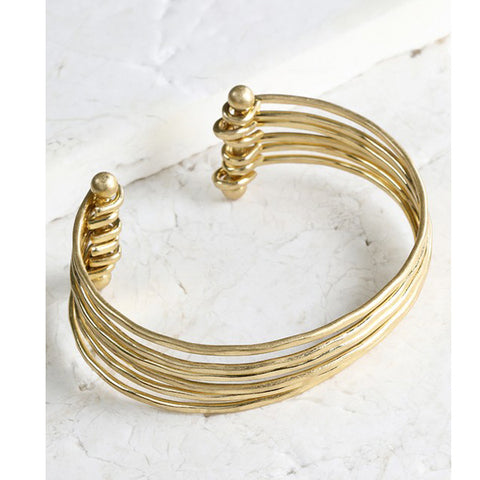 Nina Gold Bracelet - Prairie Rose Boutique