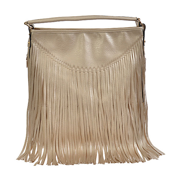 Fabulous Fringe Handbag - Gold - Prairie Rose Boutique