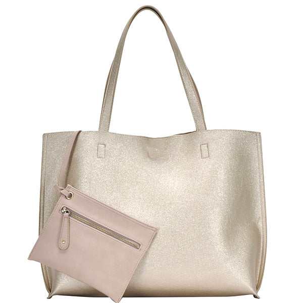 Double Duty Reversible Tote - Gold - Prairie Rose Boutique