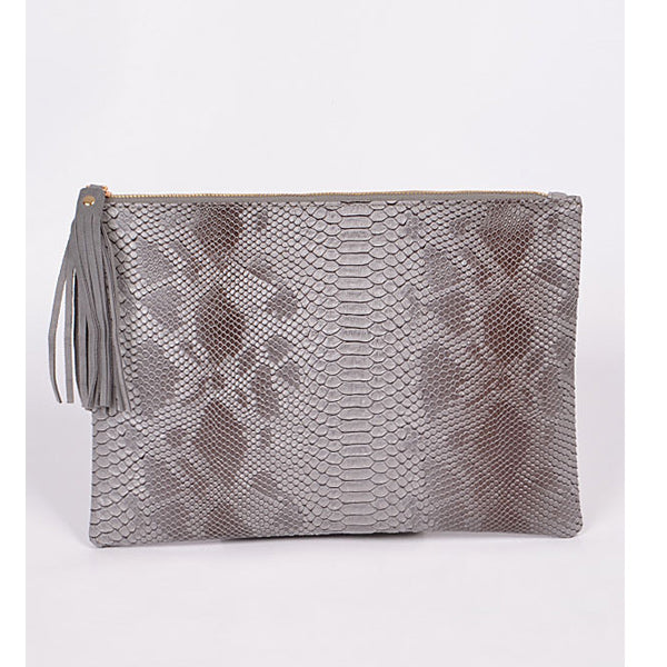 Snake Skin Clutch - Prairie Rose Boutique