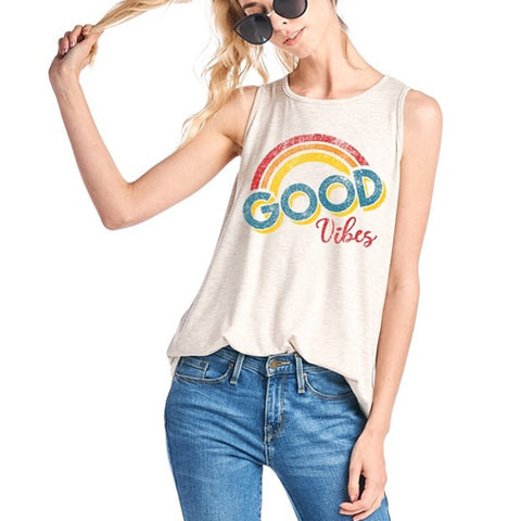 Good Vibes Tee - Prairie Rose Boutique