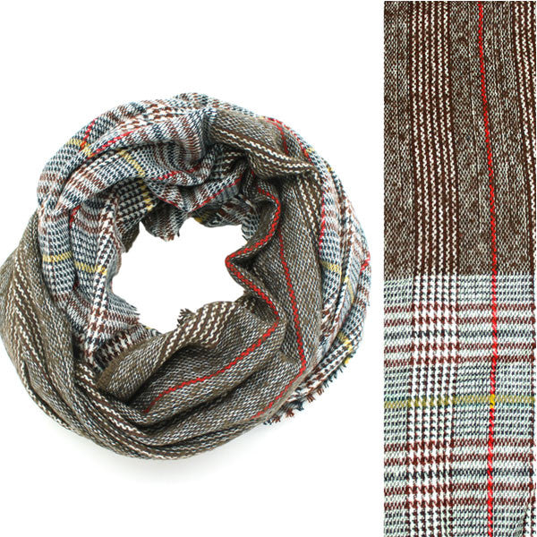 Two Print Plaid Infinity Scarf - Prairie Rose Boutique